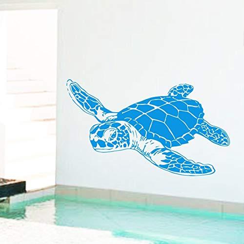 Art Design home decoration günstige Vinyl sea turtle Wandaufkleber abnehmbare haus dekor tierschildkröte aufkleber für kinder oder kindergarten 58X98 cm -