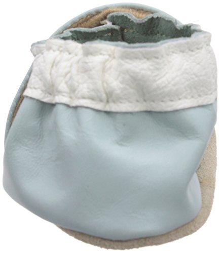 Jack & Lily  Daisy chain light Blue, Chaussures premiers pas pour bébé (fille) Bleu - Blau (Daisy chain light Blue)
