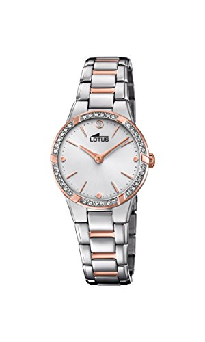 Lotus Watches Womens Analogue Classic Quartz Watch with Stainless Steel Strap 18455/2
