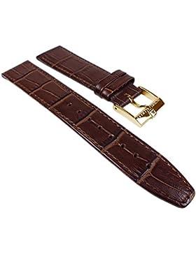 Ersatzband Uhrenarmband Leder Band braun 20mm für klassische Uhr passend zu Jacques Lemans JL 1-1777 24251G
