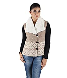 Owncraft Womens Woolen Jacket (Own_111_Beige_X-Small)