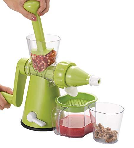 Slow frutta/verdura manuale spremi melograno/Wheatgrass Juicer + 2tazze di stoccaggio e filtro