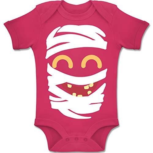 Shirtracer Karneval und Fasching Baby - Mumie Karneval Kostüm - 6-12 Monate - Fuchsia - BZ10 - Baby Body Kurzarm Jungen Mädchen