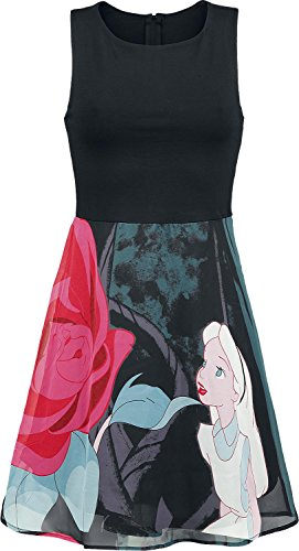Walt Disney Alice in Wonderland - Flower Abito nero M
