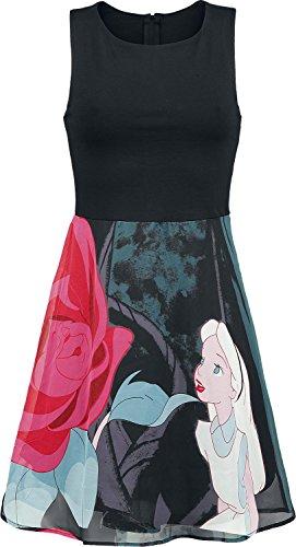 walt-disney-alice-in-wonderland-flower-robe-noir-xl