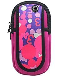 Sac de bras de pied de course de sport en plein air Sac de téléphone portable créatif, rose
