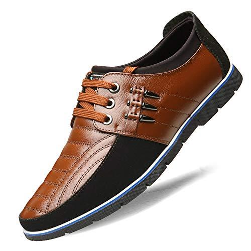 Lederne Abendschuhe der Männer Schwarz-Formale Schuhe Brown-Abendschuhe, handgemachtes Leder des formalen Schuhes der Männer, Geschäfts-Schuh-Mens-Kleid,D,44 -