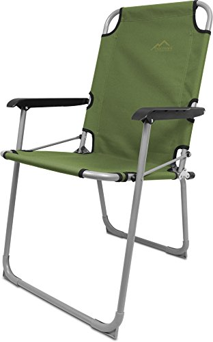 normani 1 oder 2 Outdoor Faltstühle Campingstuhl Anglerstuhl mit Armlehne Farbe Sakami/Oliv Größe 2 Stück -