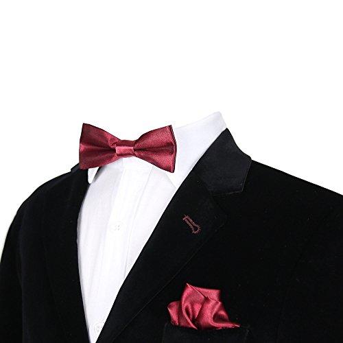 SIRRI Jungen Fliege Gr. onesize, Burgundy Bow Tie Set -
