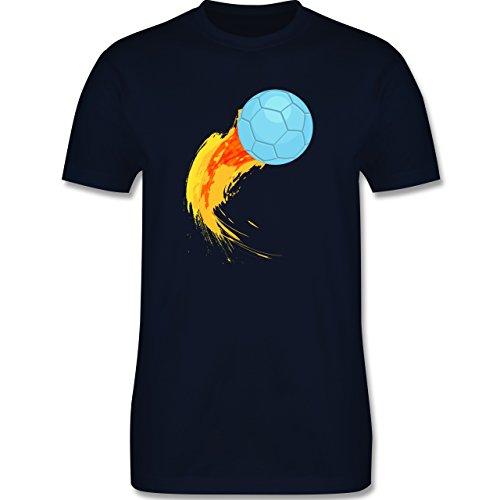 Handball - Burning ball - Herren Premium T-Shirt Navy Blau