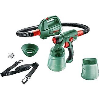 Bosch – Sistema de pulverización de pintura PFS 2000 (440W, 2 boquillas, cinturón de transporte, depósito 800 ml con tapa)
