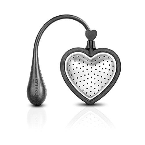 Infusor de té corazón grande HEART- negro