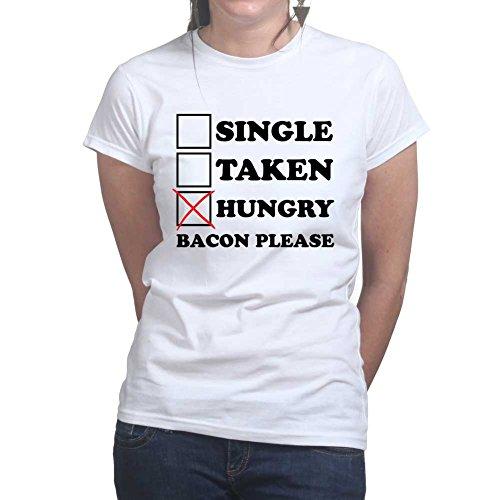 Single Taken Baconstrips Bacon Strips Epic Meal Ladies Womens T shirt