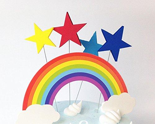 or Sterne und Regenbogen Geburtstag Feiern Jubiläen, Fiesta Pyjama Abendessen San Valetin Torte cupckes Kollegium und GUARDERIA Dekoration Geschenke und Scrapbooking, Fotos.. Photocall, Collage, von Open Buy (Regenbogen Dekoration)