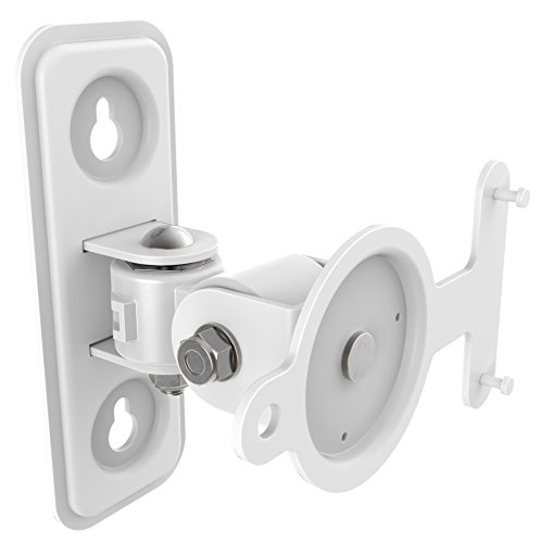 RICOO Lautsprecher Wandhalterung schwenkbar neigbar LH433W für SONOS® Play 3 / Wlan Airplay Lautsprecher-Wandhalter / Halterung-Lautsprecherboxen / Multiroom Speaker Full-Motion Mount / Weiss
