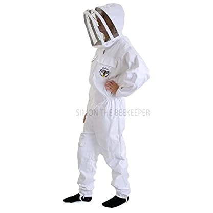 Simon The Beekeeper Buzz Work Wear White Suit With Fencing Veil - XL 3
