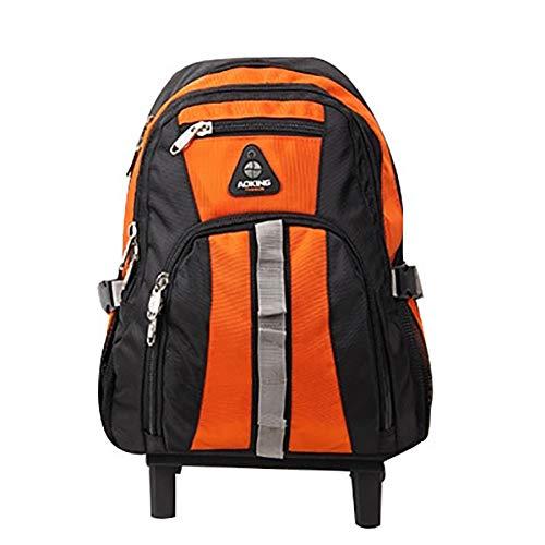 LRLANI Multifunktions-Reisetasche für Business-Studenten, tragbarer Rucksack mit doppeltem Verwendungszweck, einziehbarer Trolley-Rucksack mit leiser Riemenscheibe-orange -
