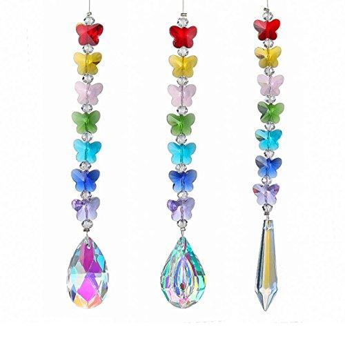 bogen Kronleuchter Sonnenfänger zum Aufhängen Ornament Rainbow Maker Suncatcher mit farbigen Anhänger für Home Windows Decor ()