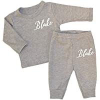 Personalised Fancy Name Baby Luxury Lounge Set Full Colour Baby Wear Personalised Newborn Baby Sets