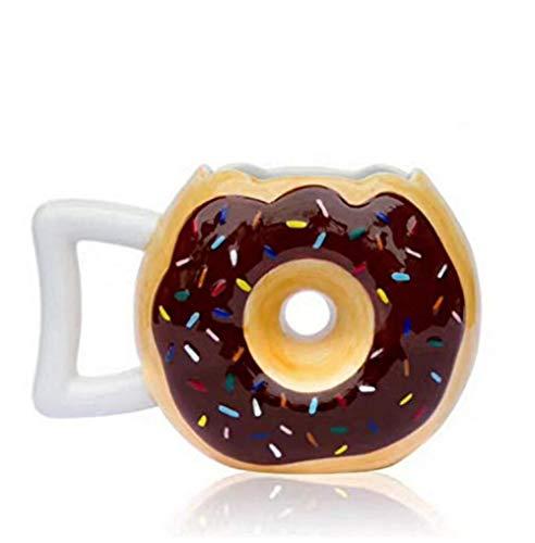 HYDWX Becher Donut Cup Kreative Keramik Tasse Kreative Brot Tasse Donut Keks Milch Kaffeetasse Teetasse Art Handmade Glass Office