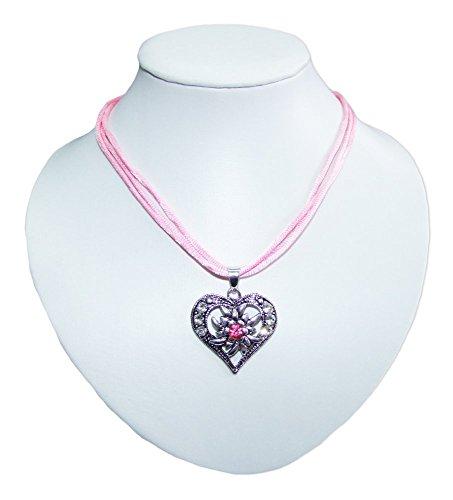 Trachtenkette Sira mit Herz Rosa