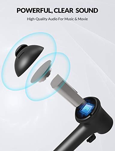 Bluedio Hi (Hurricane) TWS Cuffie Bluetooth in-Ear con Custodia di Ricarica, Auricolari Wireless Bluetooth 5.0 Headset, Microfono Incorporato per Cellulare/Corsa/Android, 5 Ore di Riproduzione