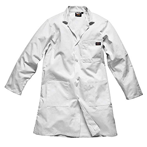 Dickies Mens Redhawk Workwear Warehouse Coat Jacket White Navy,S,M,L,XL,XXL White