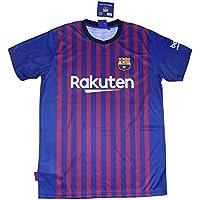 FC. Barcelona Camiseta Réplica Infantil Primera Equipación 2018/2019 - Dorsal Messi 10 - Producto Bajo Licencia (6 años)