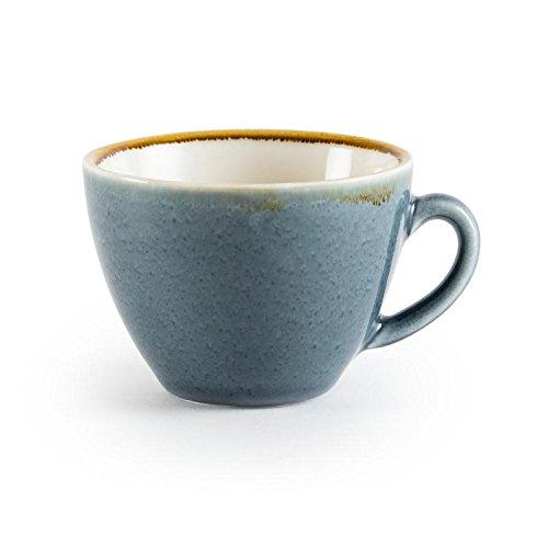 Olympia Ofen gp348Ocean Cappuccino-Tasse, Porzellan, 340ml Fassungsvermögen, Blau (6Stück)
