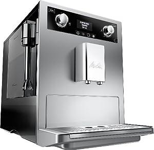 Melitta Gourmet E965-101, Bean to Cup Coffee Machine, Silver