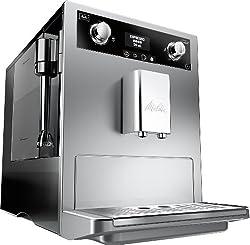 Melitta E 965-101 silber Kaffeevollautomat Caffeo Gourmet -Aromaeinstellung, Profi Milchschaumquirl