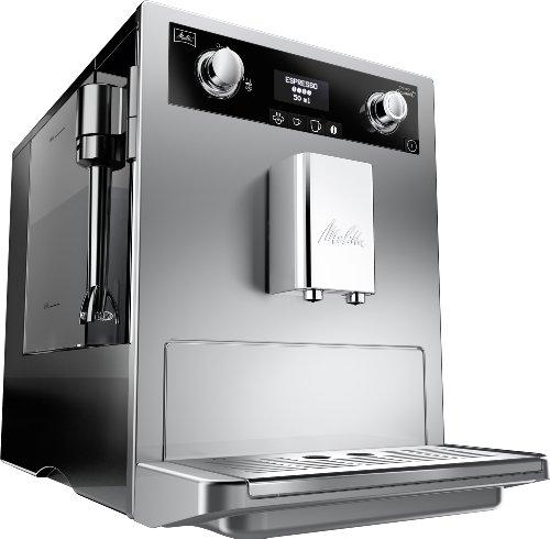 Melitta E 965-101 Caffeo Gourmet- Machine Automatique à Café Expresso- Cappuccino- Argent- 15 bars