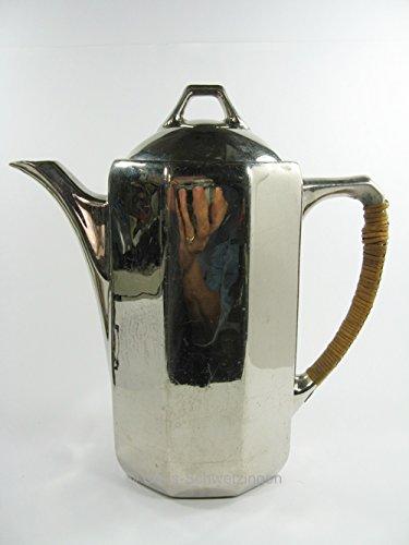 Kaffeekanne - Porzellan versilbert: Höhe ca.27 cm - Breite ca. 26 cm shabby chic