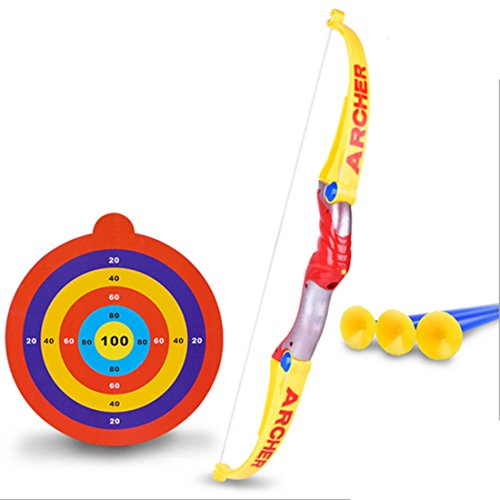 Vicoki Children Plastic Bow Arrows Shooting Sports Archery Toy for Kids Indoor and Outdoor Garden Game