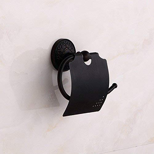KinTTnyfgi Handtuchhalter aus Kupfer, antikes mongolisches Design, Schwarz