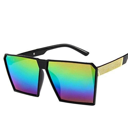 Btruely Herren Gafas de Sol para Mujer Hombres Vintage Square Marco de Metal  Espejo Gafas de Sol 7e43b95f4a97