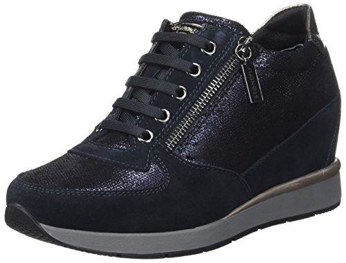 Stonefly Jackie 3 Velour, Chaussures À Talons Hauts Avec Plate-forme Femme Bleu (bleu Marine 1a02)