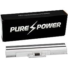 PURE⚡POWER® Batería del ordenador portátil para Sony VAIO PCG-3D1M (11.1V, 4400 mAh, plata, 6 celdas)