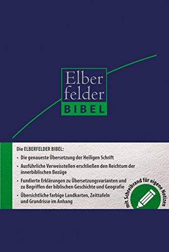 Elberfelder Bibel 2006: Schreibrandbibel Kunstleder blau
