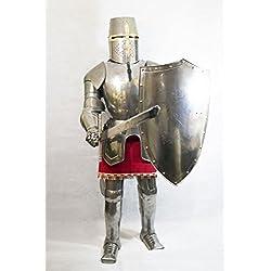 Tamaño completo y totalmente portátil caballeros templarios traje de armadura