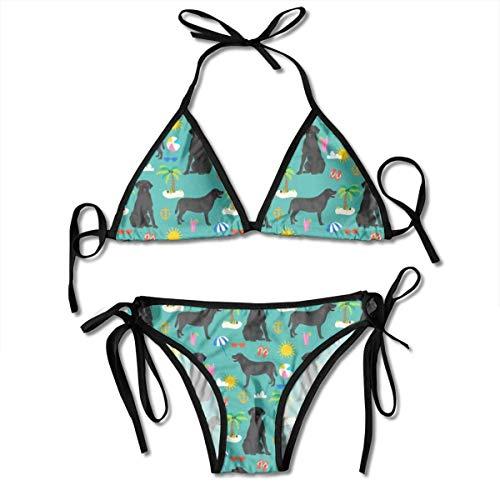 Fun Life Art Black Lab Labrador Retriever Strand Sommer Hunderasse Stoff Teal_1727 90% Nylon 10% Spandex mit Brustschale