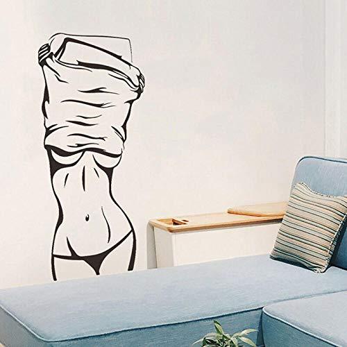 Autocollant Mural Sexy Jeune Fille Nue Chaude Jeune Femme Grand Décalque Pour Stickers Muraux Décor