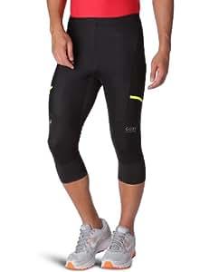 Gore Running Wear Men's X-Run Ultra Windstopper Soft Shell Light 3/4 Tights - Black, Small