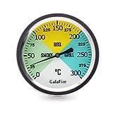 GALAFIRE 2 6/8 Pulgadas Parrilla de Barbacoa Termómetros Extra Largos 2 7/8 Pulgadas Vástago Carbón a la Parrilla Pit Wood Smoker Medidor de Temperatura