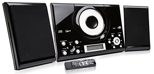 Grouptronics GTMC-101 Black CD Player Stereo with FM radio, Clock / Alarm & Wall Mountable Test