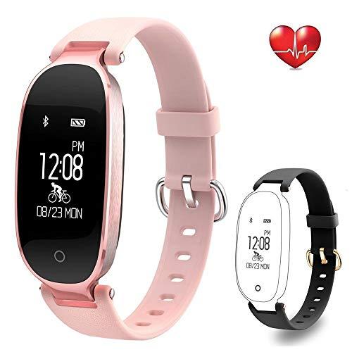 Imagen de rayfit pulsera actividad reloj inteligente mujer monitor de ritmo cardíaco fitness tracker contador de calorías pasos monitor de sueño podómetro ejercicios salud pulsera deportiva pulsómetros