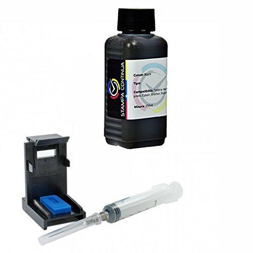 Кit recambio para cartucho HP n ° 302 negro, tinta de calidad de impresión Continua altà refill para impresora OfficeJet 3830 All-in-One