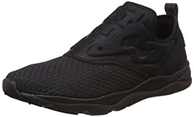 Reebok Classics Men's Furylite Slip-On Ww Black Running Shoes - 10 UK
