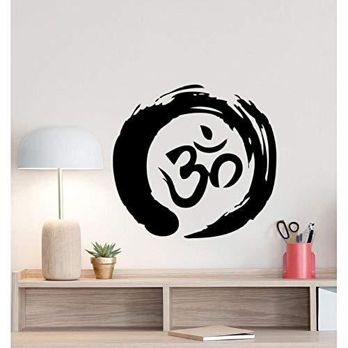 Wandsticker Zen Kreis Om Symbol Wandtattoo Ohm Buddhismus Poster Yoga Zeichen Kreis Vinyl Aufkleber Büro Meditation Decor Home 45x42cm