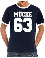 Touchlines Herren T-shirt Mücke 63 Ringer  Kontrast